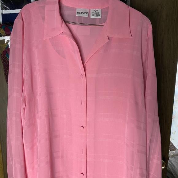 Liz Baker sheer blouse